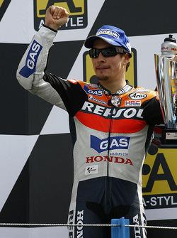 Podium: third place Nicky Hayden