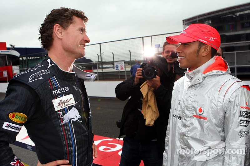 David Coulthard, Red Bull Racing y Lewis Hamilton, McLaren Mercedes