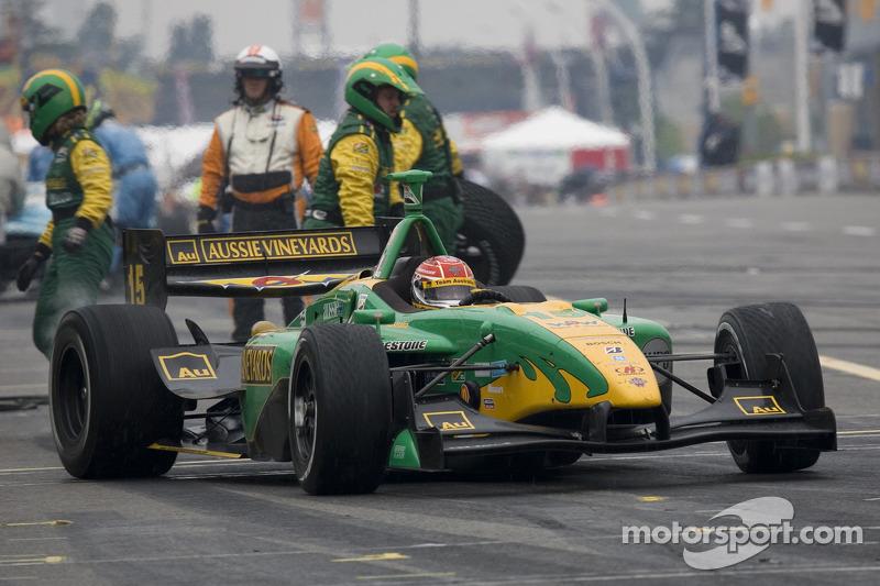 Simon Pagenaud leaves the pits