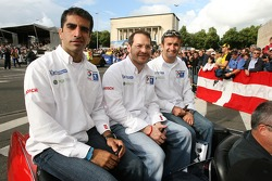 Marc Gene, Jacques Villeneuve and Nicolas Minassian