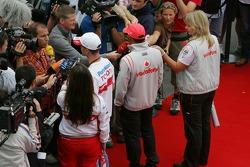 Ralf Schumacher, Toyota Racing and Lewis Hamilton, McLaren Mercedes