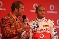 Lewis Hamilton, McLaren Mercedes and Kai Ebel,, Vodafone Karting Event