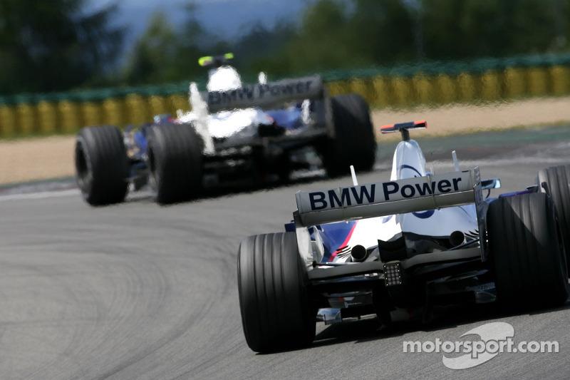Nick Heidfeld, BMW Sauber F1 Team , Robert Kubica, BMW Sauber F1 Team