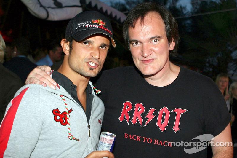 Vitantonio Liuzzi, Scuderia Toro Rosso, mit Qentin Tarantino, Regisseur