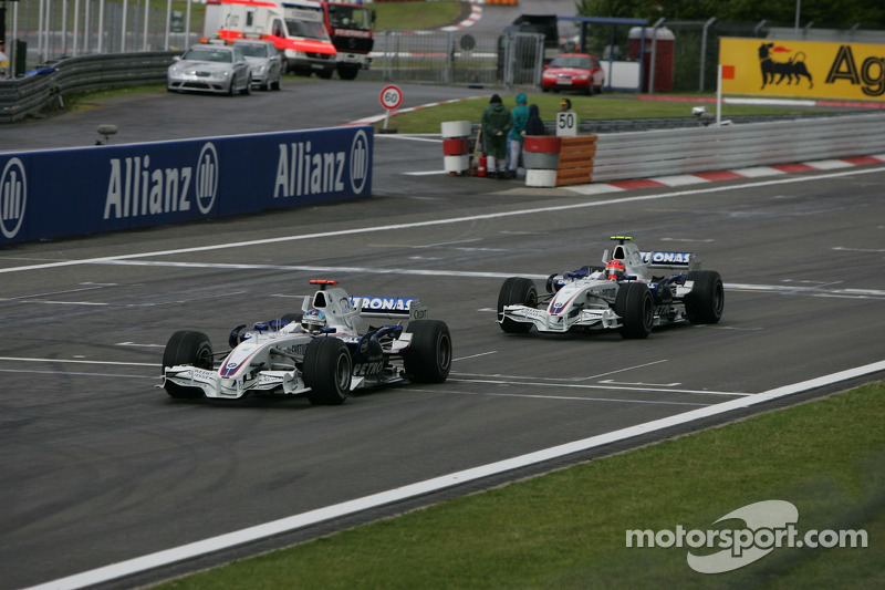 Nick Heidfeld, BMW Sauber F1 Team; Robert Kubica,  BMW Sauber F1 Team