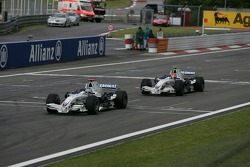 Nick Heidfeld, BMW Sauber F1 Team y Robert Kubica,  BMW Sauber F1 Team