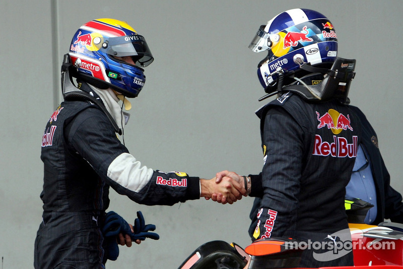 David Coulthard, Red Bull Racing felicita a Mark Webber, Red Bull Racing