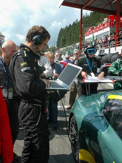 An engineering works on the data of the Aston Martin DBR9