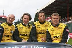 Jean-Denis Deletraz, Mike Hezemans, Fabrizio Gollin and Marcel Faessler