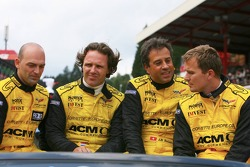 Jean-Denis Deletraz, Mike Hezemans, Fabrizio Gollin and Marcel Fassler
