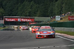 #51 AF Corse Motorola Ferrari 430 GT2: Gianmaria Bruni, Stéphane Ortelli, Rui Aguas
