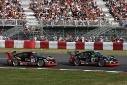#87 Farnbacher Loles Motorsports Porsche GT3 Cup: Bryce Miller, Dirk Werner, #85 Farnbacher Loles Motorsports Porsche GT3 Cup: Dominik Farnbacher, Ian Baas