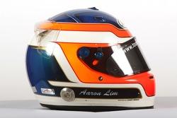 Aaron Lim, driver of A1 Team Malaysia, helmet