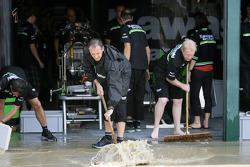 Kawasaki team trying to keep dry