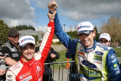 Winner Marcus Gronholm and second place Sébastien Loeb