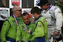 DP podium: third place Nic Jonsson and Colin Braun with Tracy Krohn