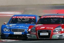 Гэри Паффет, Persson Motorsport AMG Mercedes, AMG-Mercedes C-Klasse и Майк Роккенфеллер, Audi Sport Team Rosberg, Audi A4 DTM, fighting hard for position