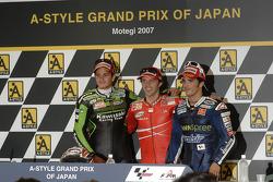 Post-race press conference: race winner Loris Capirossi, Randy De Puniet and Toni Elias