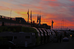 Sunset on the Brno paddock