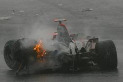 Unfall Fernando Alonso, McLaren Mercedes