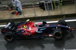 Sebastian Vettel, Scuderia Toro Rosso retires from the race
