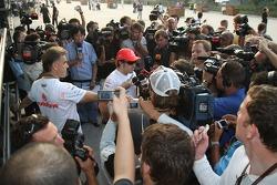 Fernando Alonso, McLaren Mercedes with the media