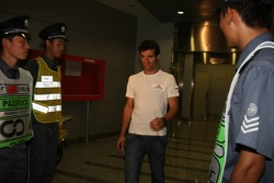 Mark Webber, Red Bull Racing after meeting with the stewards