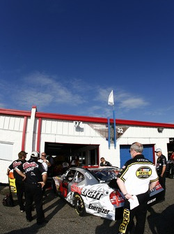 The Coors Light Dodge enters tech inspection