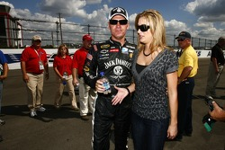 Clint Bowyer with his girlfriend