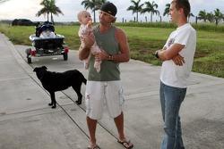 Sebastian Vettel, Scuderia Toro Rosso in Hawai (Haleakala National Park) meets surf legend Robby Naish