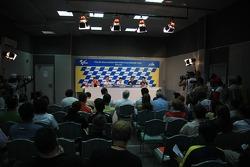 Press conference: pole winner Dani Pedrosa with Casey Stoner and Marco Melandri
