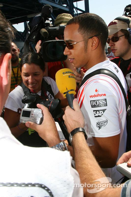 Lewis Hamilton em seu primeiro GP Brasil