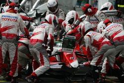 Jarno Trulli, Toyota Racing pit stop