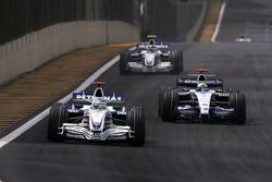 Nick Heidfeld, BMW Sauber F1 Team , Nico Rosberg, WilliamsF1 Team, Robert Kubica,  BMW Sauber F1 Team