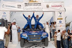 Podium: second place and FIA Cross-Country Rally World Cup 2007 champions Carlos Sainz and Michel Périn