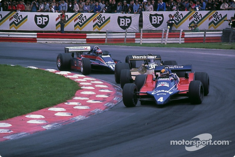 Derek Daly devant Jochen Mass et Mario Andretti