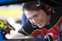 Crew chief Steve Letarte talks to his driver Jeff Gordon