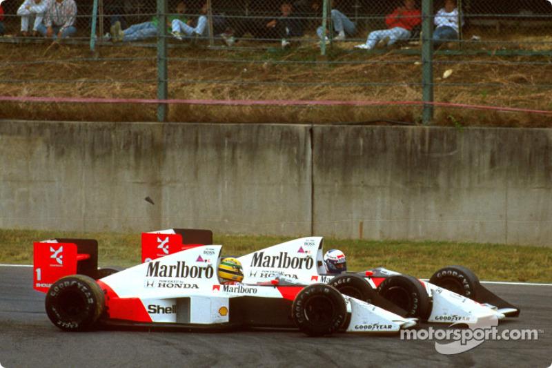 A batida de Ayrton Senna e Alain Prost no GP do Japão de 1989