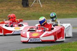 Felipe Massa, Lucas Di Grassi and Michael Schumacher