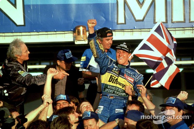 Michael Schumacher, Benetton Renault, campeón del mundo de F1 1995