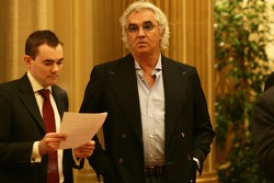 Flavio Briatore, Renault F1 Team, Team Chief, Managing Director arrives at the hearing