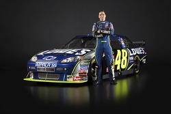Jimmie Johnson with the 2008 Hendrick Motorsports Lowe's Chevrolet Impala SS