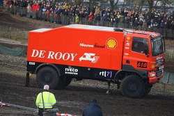 Team de Rooy pre-prologue in Valkenswaard: Jan de Rooy, Dany Colebunders and Darek Rodewald