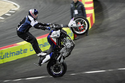 Chris Pfeiffer on his BMW Motorcycle