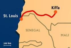 Stage 14: 2008-01-19, Kiffa to Saint-Louis