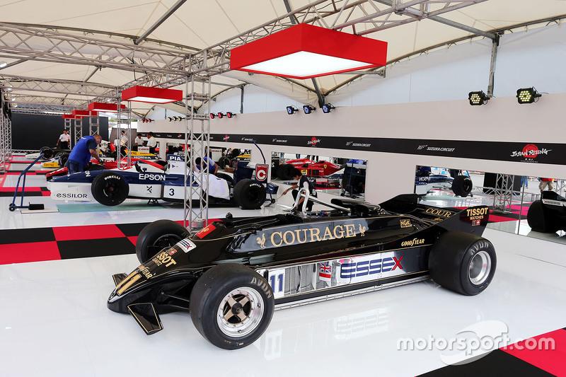 An historic Lotus on display