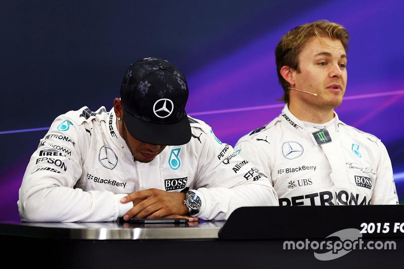 Polesitter: Nico Rosberg, Mercedes AMG F1 Team, second place Lewis Hamilton, Mercedes AMG F1 Team