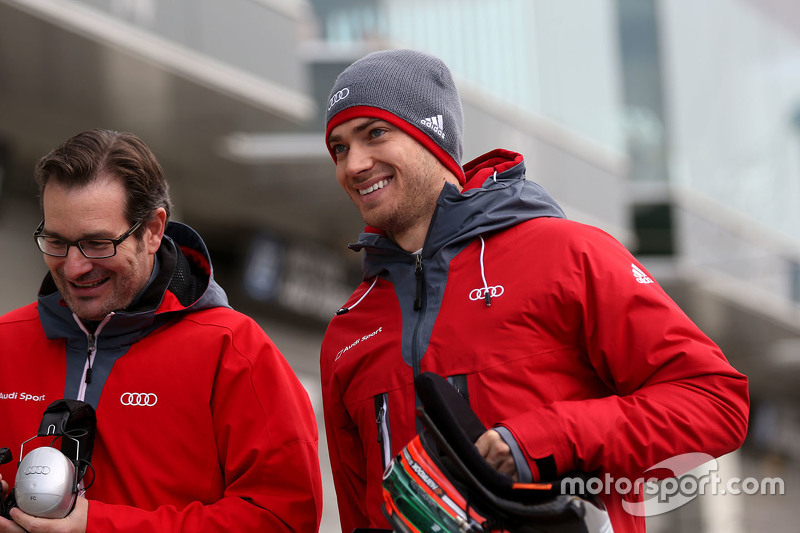 Edoardo Mortara with vehicle engineer Franco Chiocchetti