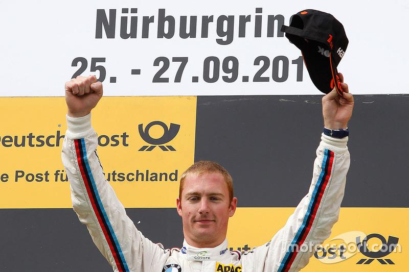 Podium: race winner Maxime Martin, BMW Team RMG BMW M4 DTM