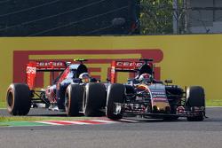 Max Verstappen, Scuderia Toro Rosso STR10 leads team mate Carlos Sainz Jr., Scuderia Toro Rosso STR1